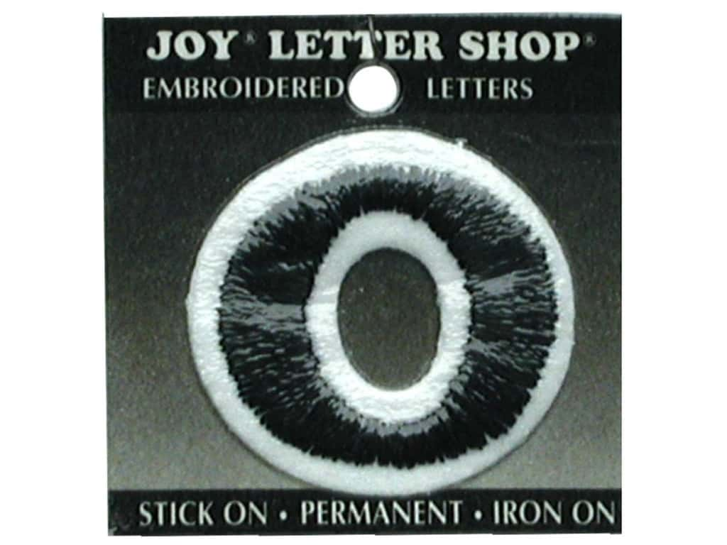 "Joy Lettershop Iron-On Number ""0"" Embroidered 1 1/2 in. Black"