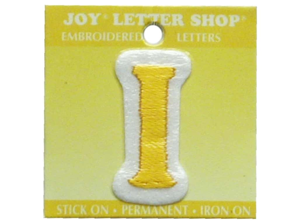 "Joy Lettershop Iron-On Letter ""I"" Embroidered 1 1/2 in. Gold"
