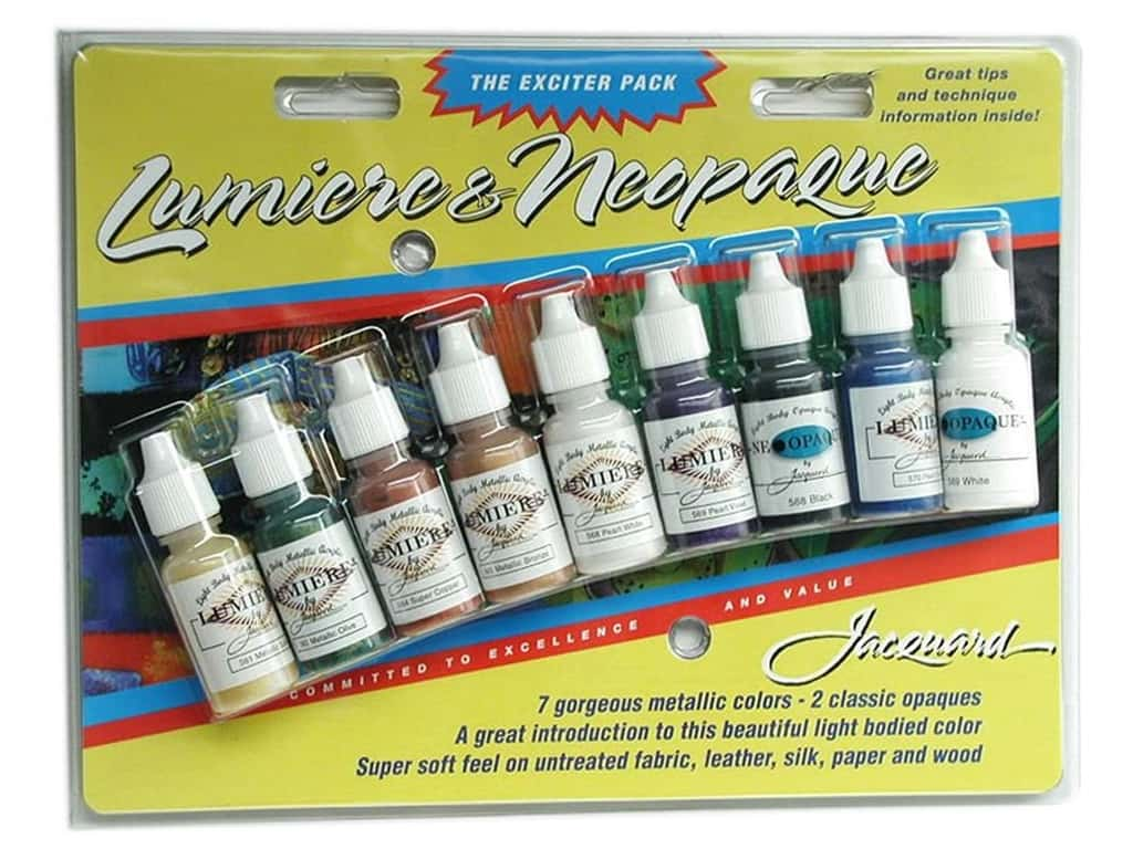 Jacquard Paint Exciter Pack Lumiere & Neopaque