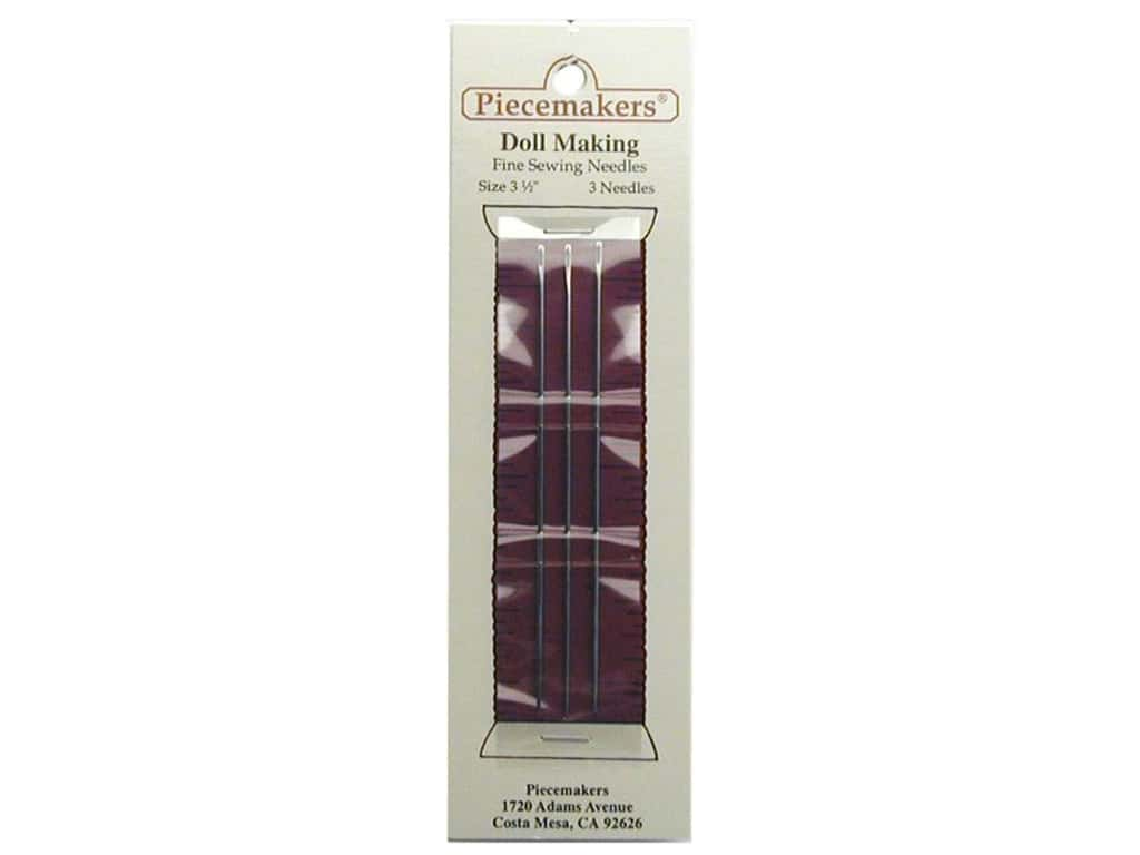 """Piecemakers Dollmaking Needles 3 1/2"""" (3 packages)"""