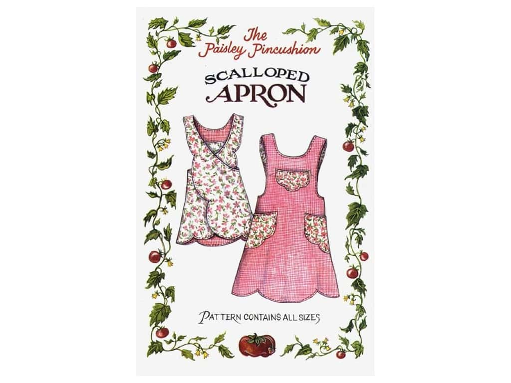 Paisley Pincushion Scalloped Apron Pattern