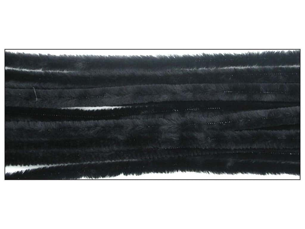 PA Essentials Chenille Stems 9 mm x 12 in. Black 12 pc.