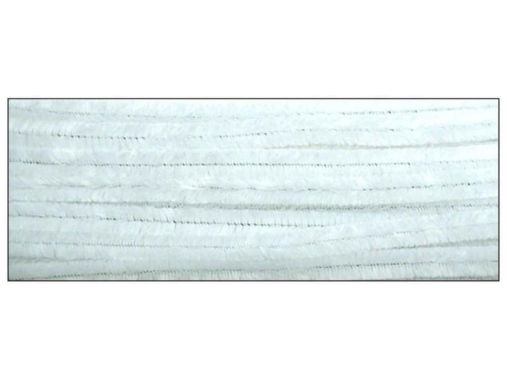 PA Essentials Chenille Stems 9 mm x 12 in. White 12 pc.