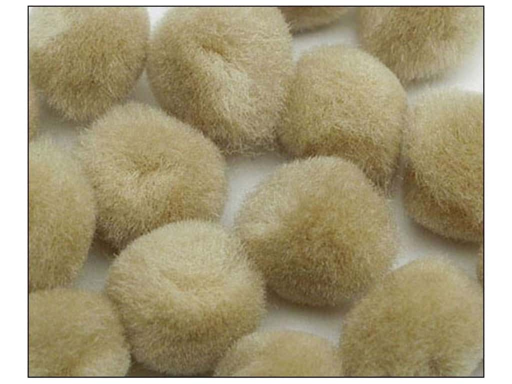 PA Essentials Pom Poms 2 in. Beige 50 pc.