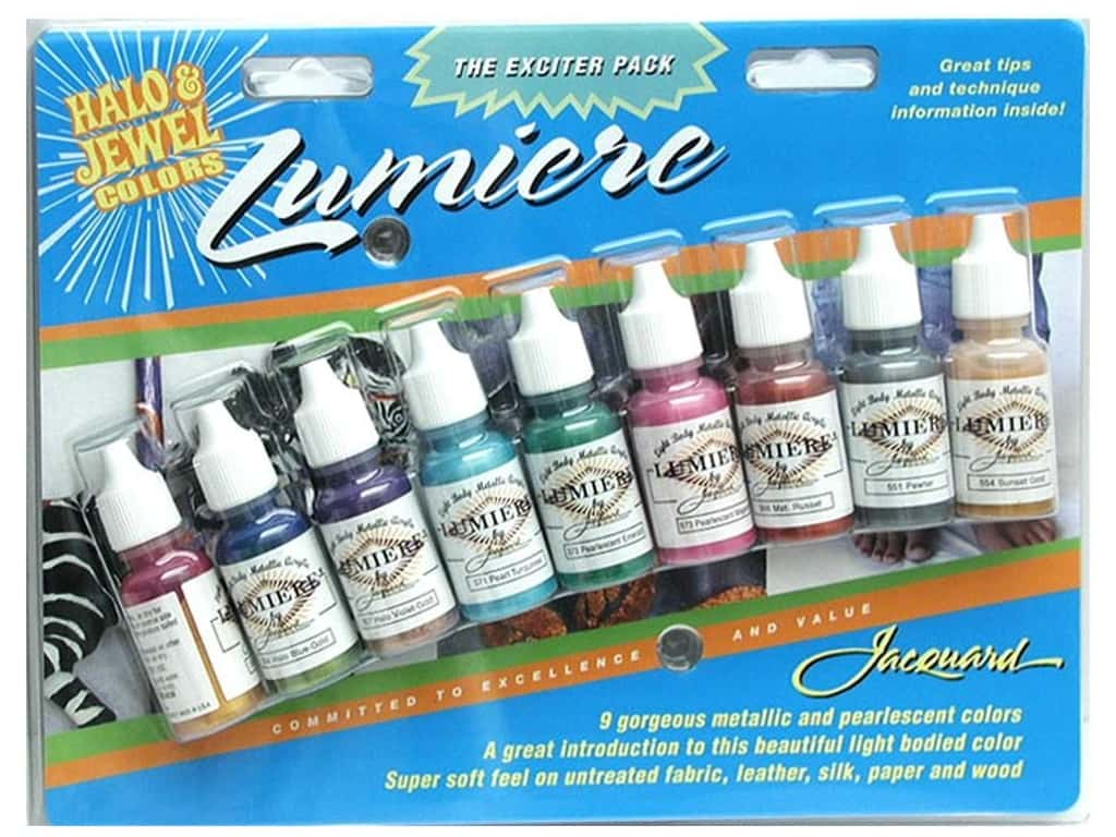 Jacquard Paint Exciter Pack Lumiere 2-Halo & Jewel Colors