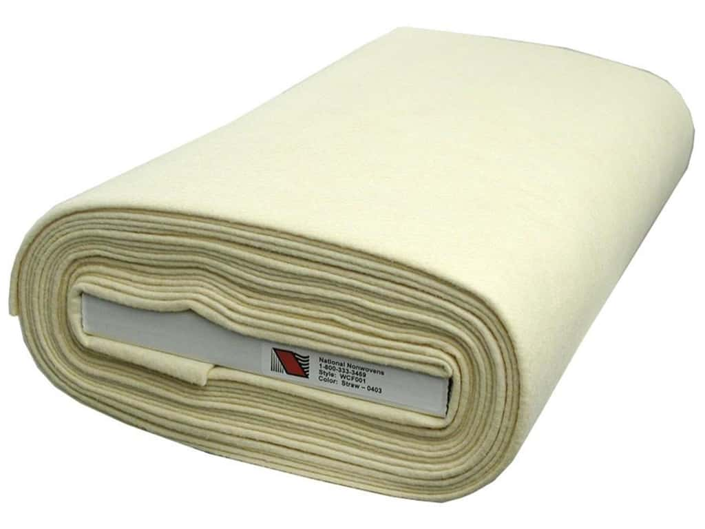 National Nonwovens 20% Wool Felt 36 in. x 10 yd. Straw (10 yards)