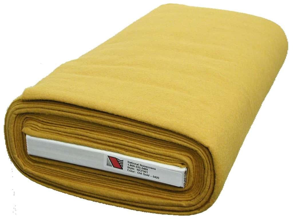 National Nonwovens 20% Wool Felt 36 in. x 10 yd. Old Gold (10 yards)