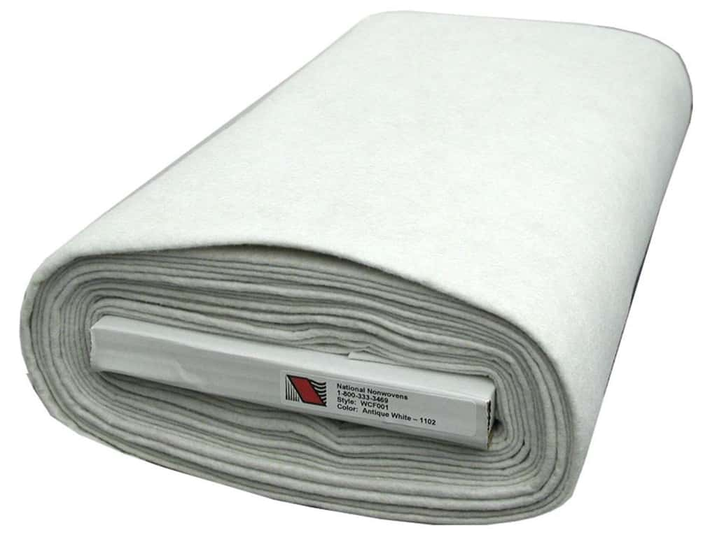 National Nonwovens 20% Wool Felt 36 in. x 10 yd. Antique White (10 yards)