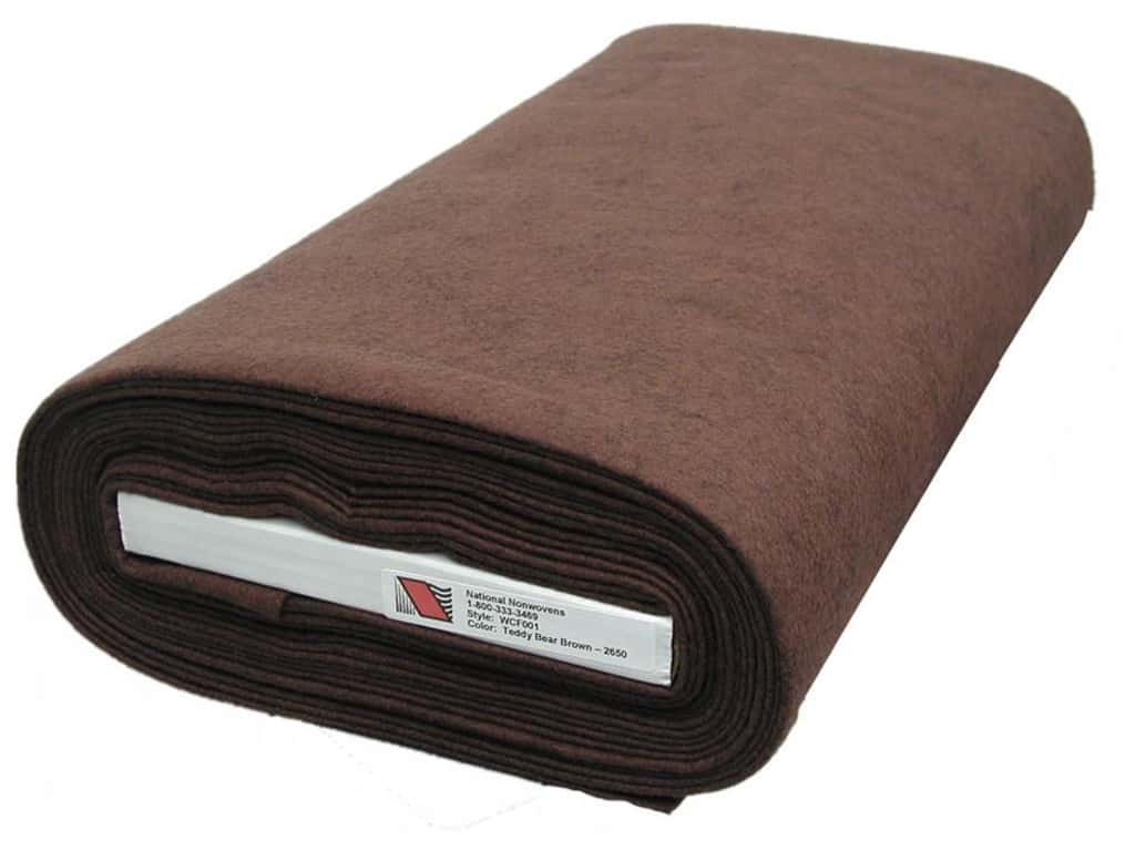 National Nonwovens 20% Wool Felt 36 in. x 10 yd. Teddy Bear Brown (10 yards)