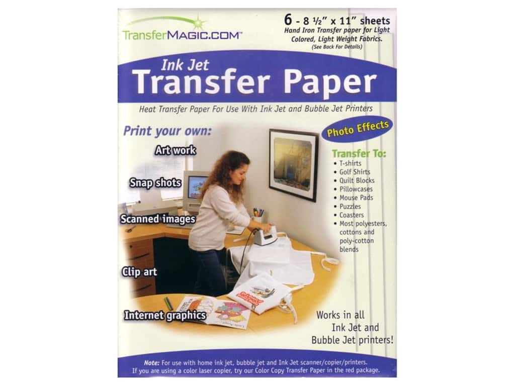 TransferMagic.com Ink Jet Transfer Paper 6 pc