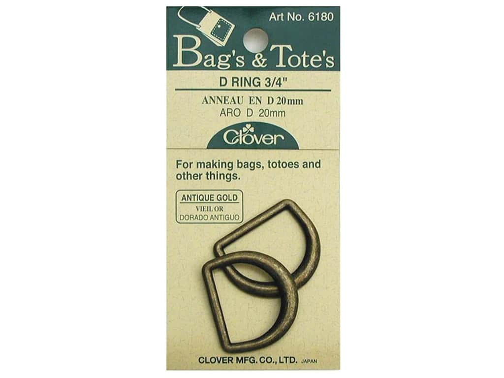 Clover D Rings 3/4 in. Antique Gold