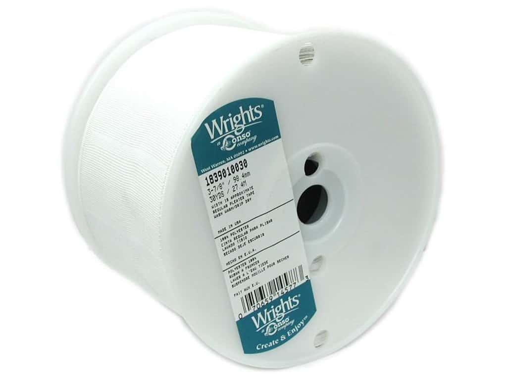 """Wrights Pleater Tape 3 7/8"""" White (30 yards)"""