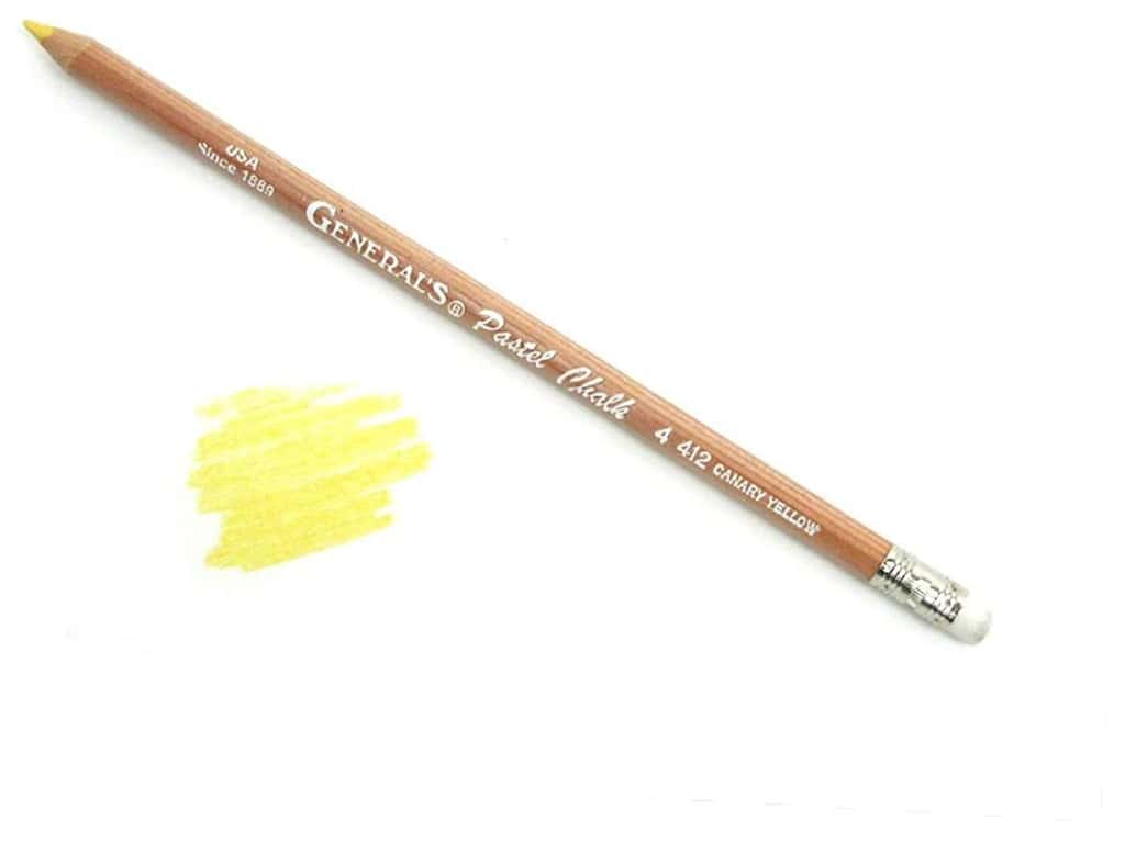 General's MultiPastel Pastel Chalk Pencil Canary Yellow (12 pieces)