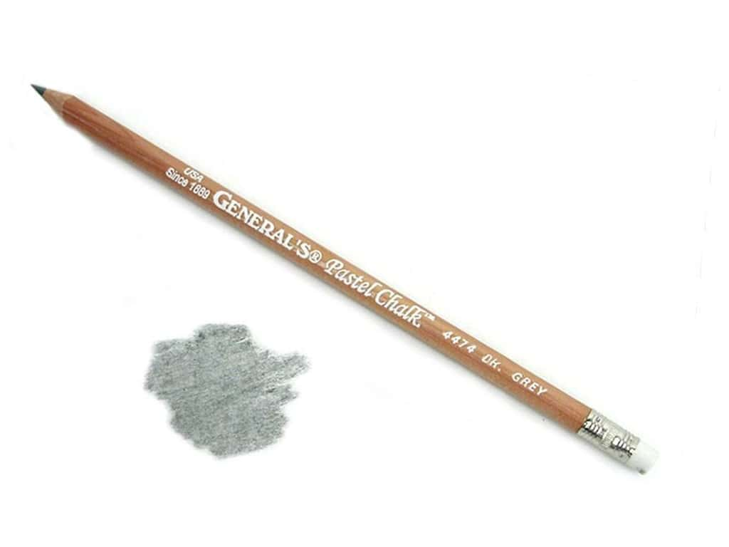 General's MultiPastel Pastel Chalk Pencil Dark Grey (12 pieces)