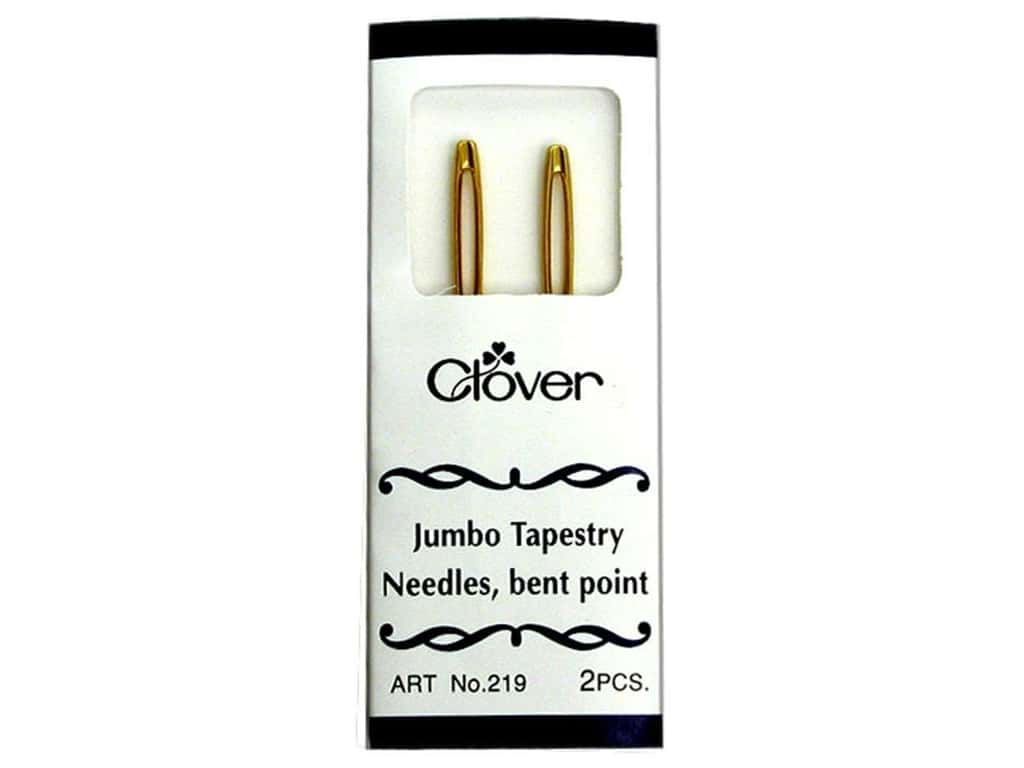 Clover Jumbo Tapestry Needles - Bent Point 2 pc.