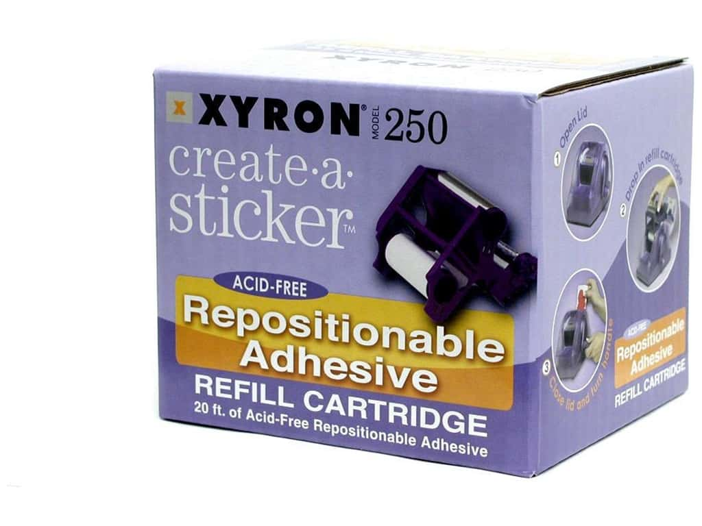Xyron 2 1/2 in. Create-A-Sticker Repositionable Refill 20 ft.