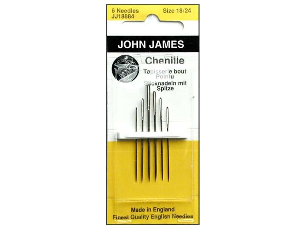 John James Chenille Needles Size 18/24 6 pc.