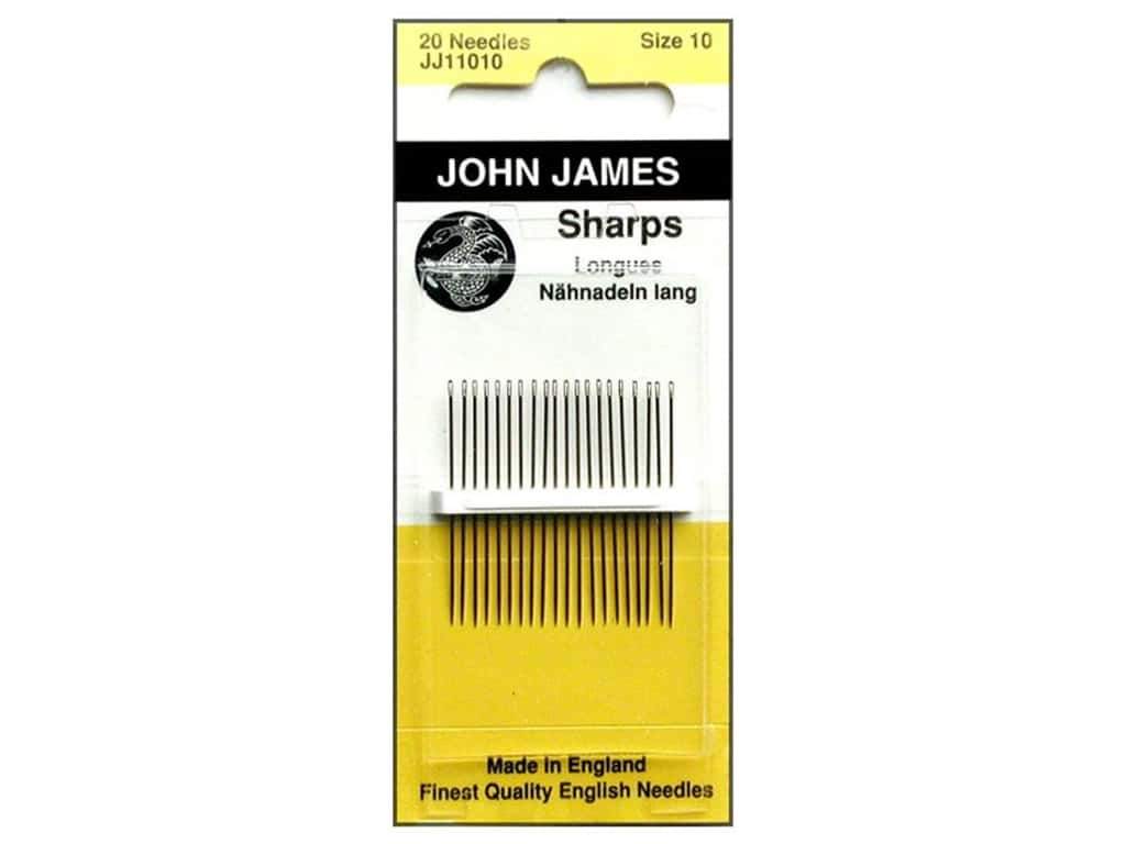 John James Sharps Sewing Needles Size 10 20 pc.