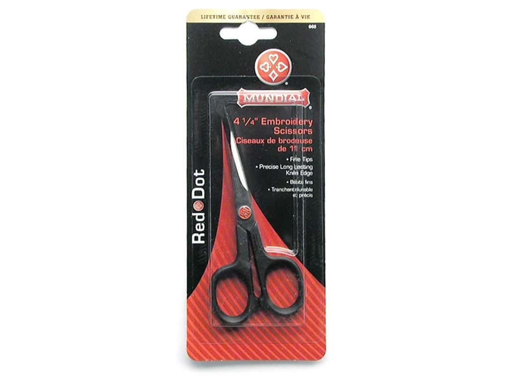Mundial 4 1/2 in. Red Dot Embroidery Scissors