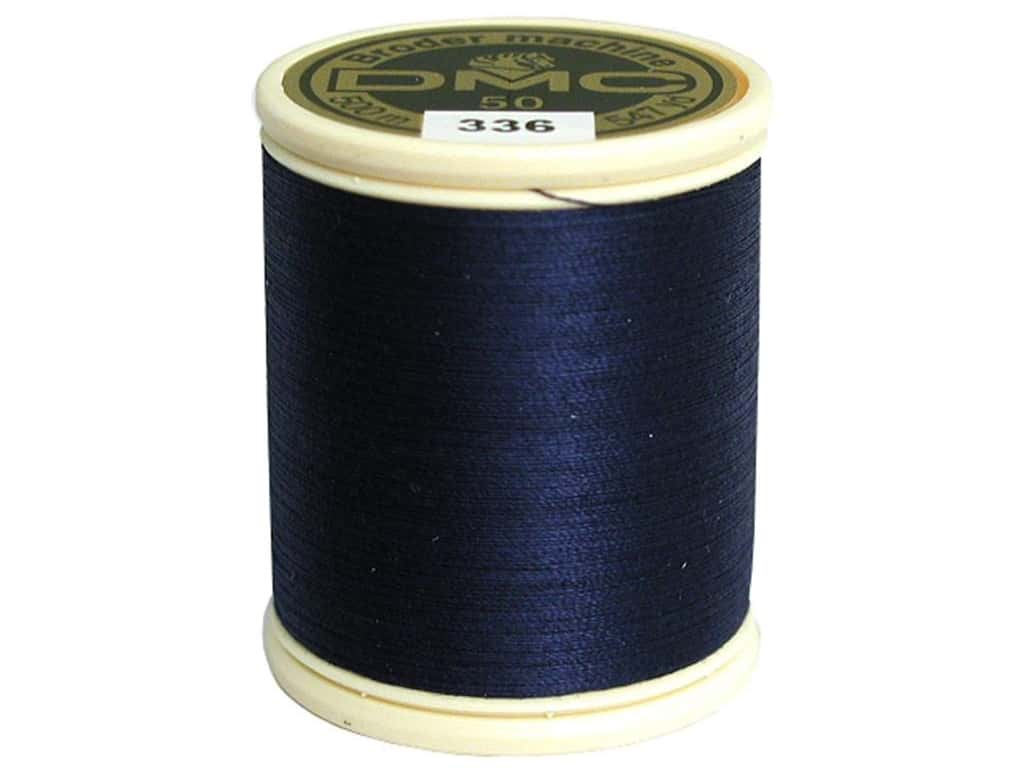 DMC Cotton Machine Embroidery Thread 50 wt. 547 yd. #336 Navy Blue