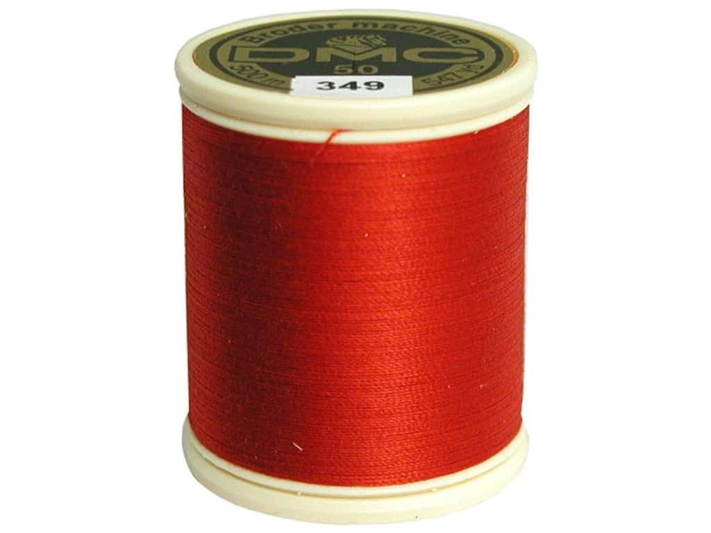 DMC Cotton Machine Embroidery Thread 50 wt. 547 yd. #349 Dark Coral