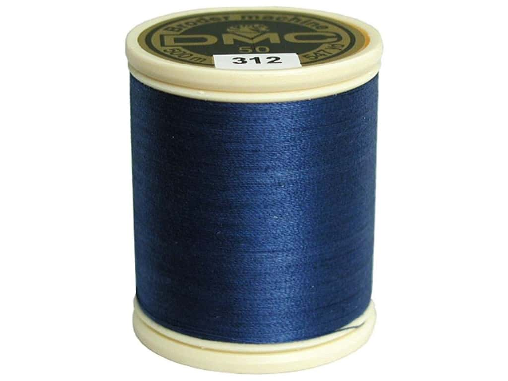 DMC Cotton Machine Embroidery Thread 50 wt. 547 yd. #312 Very Dark Baby Blue