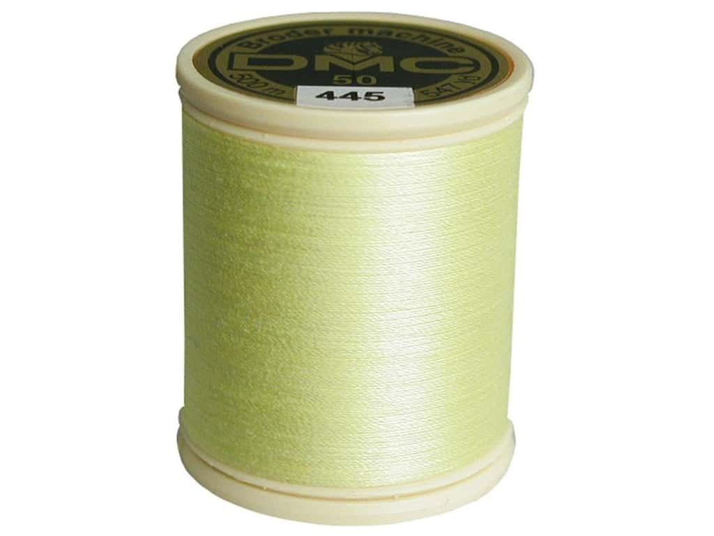 DMC Cotton Machine Embroidery Thread 50 wt. 547 yd. #445 Light Lemon