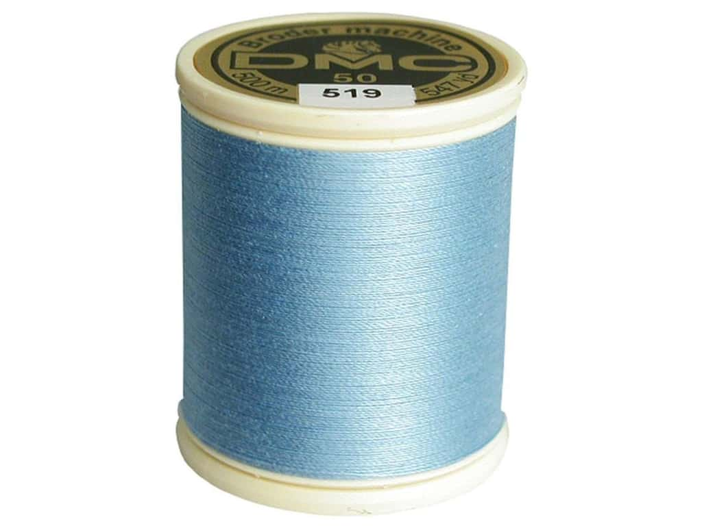 DMC Cotton Machine Embroidery Thread 50 wt. 547 yd. #519 Sky Blue