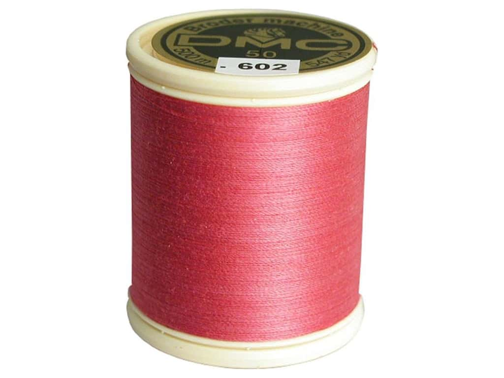 DMC Cotton Machine Embroidery Thread 50 wt. 547 yd. #602 Medium Cranberry