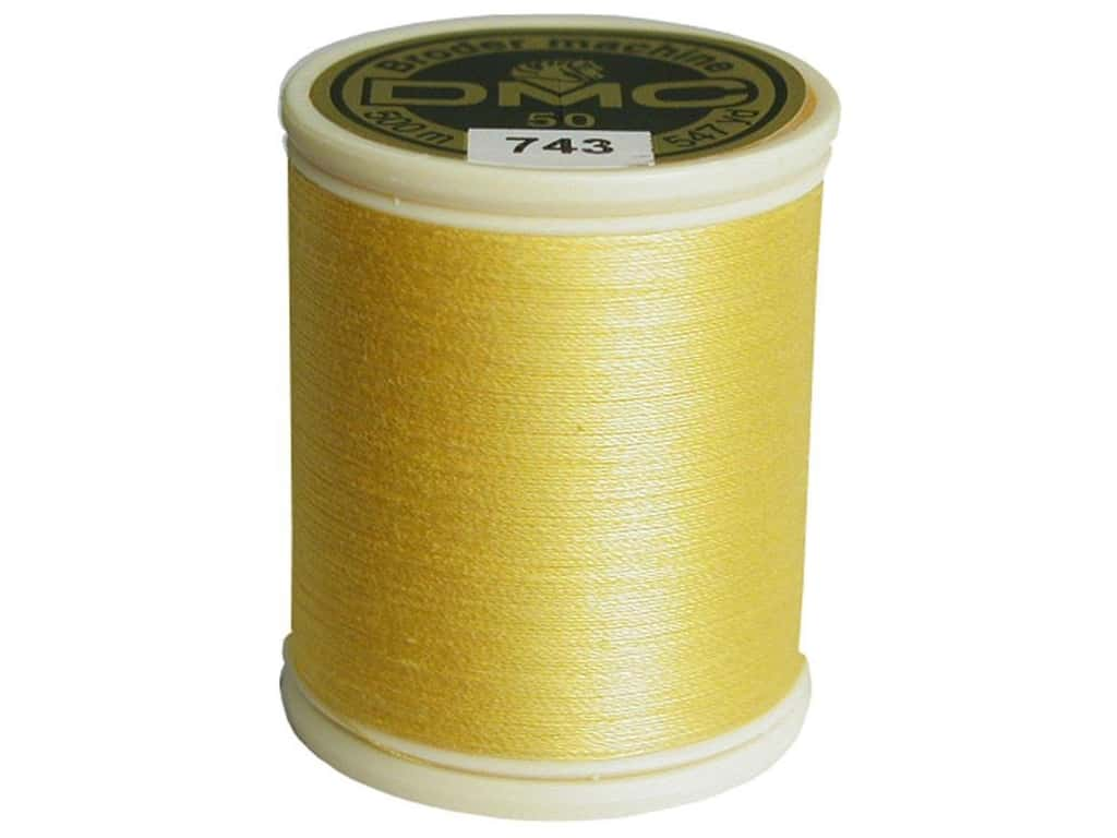 Cotton Machine Embroidery Thread 50 wt. 547 yd. #743 Medium Yellow
