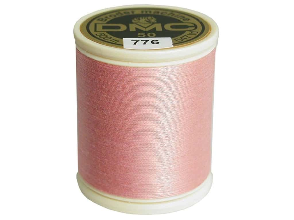DMC Cotton Machine Embroidery Thread 50 wt. 547 yd. #776 Medium Pink