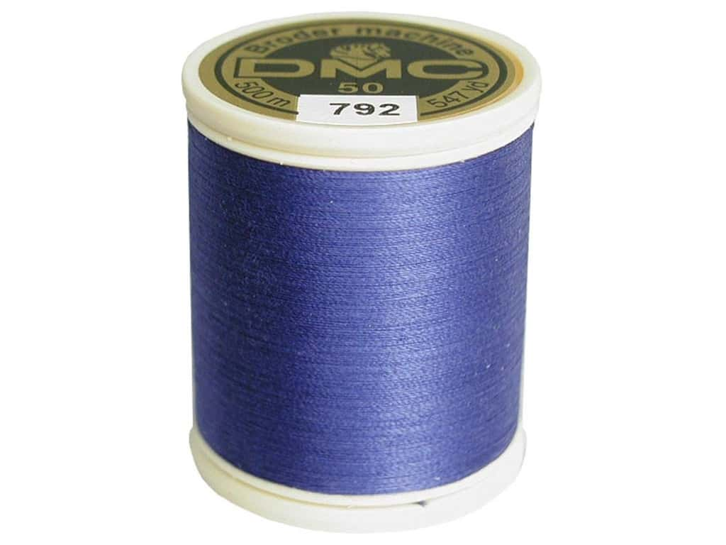 DMC Cotton Machine Embroidery Thread 50 wt. 547 yd. #792 Dark Cornflower Blue