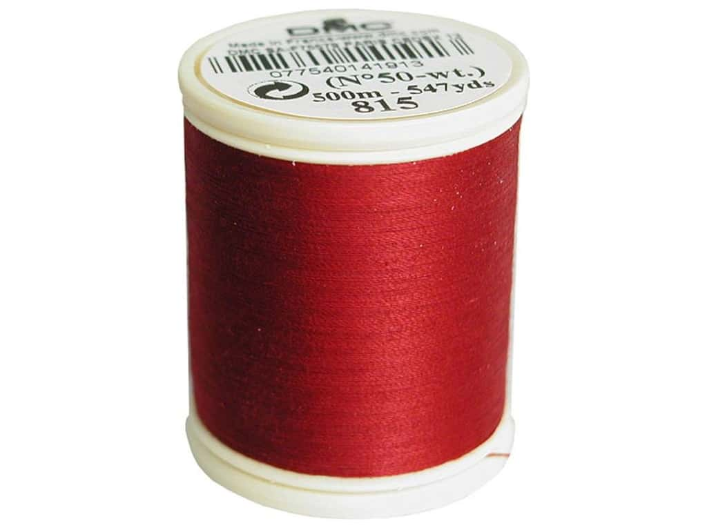 DMC Cotton Machine Embroidery Thread 50 wt. 547 yd. #815 Medium Garnet