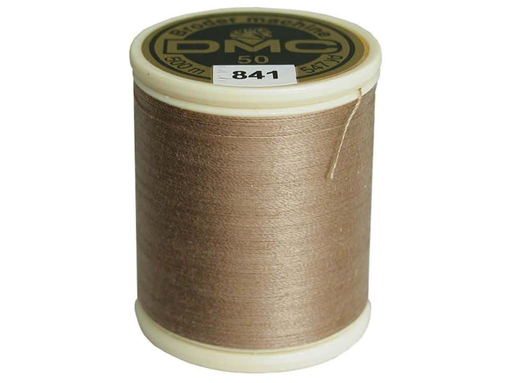 DMC Cotton Machine Embroidery Thread 50 wt. 547 yd. #841 Light Beige Brown