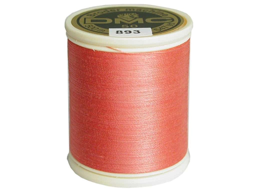 DMC Cotton Machine Embroidery Thread 50 wt. 547 yd. #893 Light Carnation