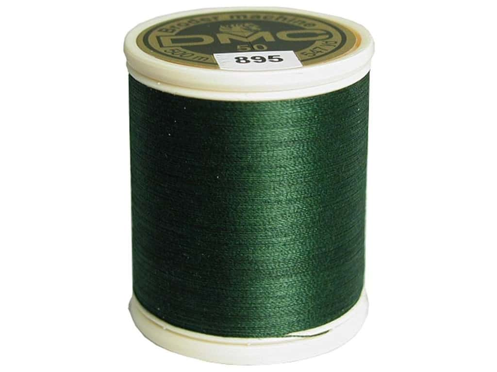 DMC Cotton Machine Embroidery Thread 50 wt. 547 yd. #895 Very Dark Hunter Green