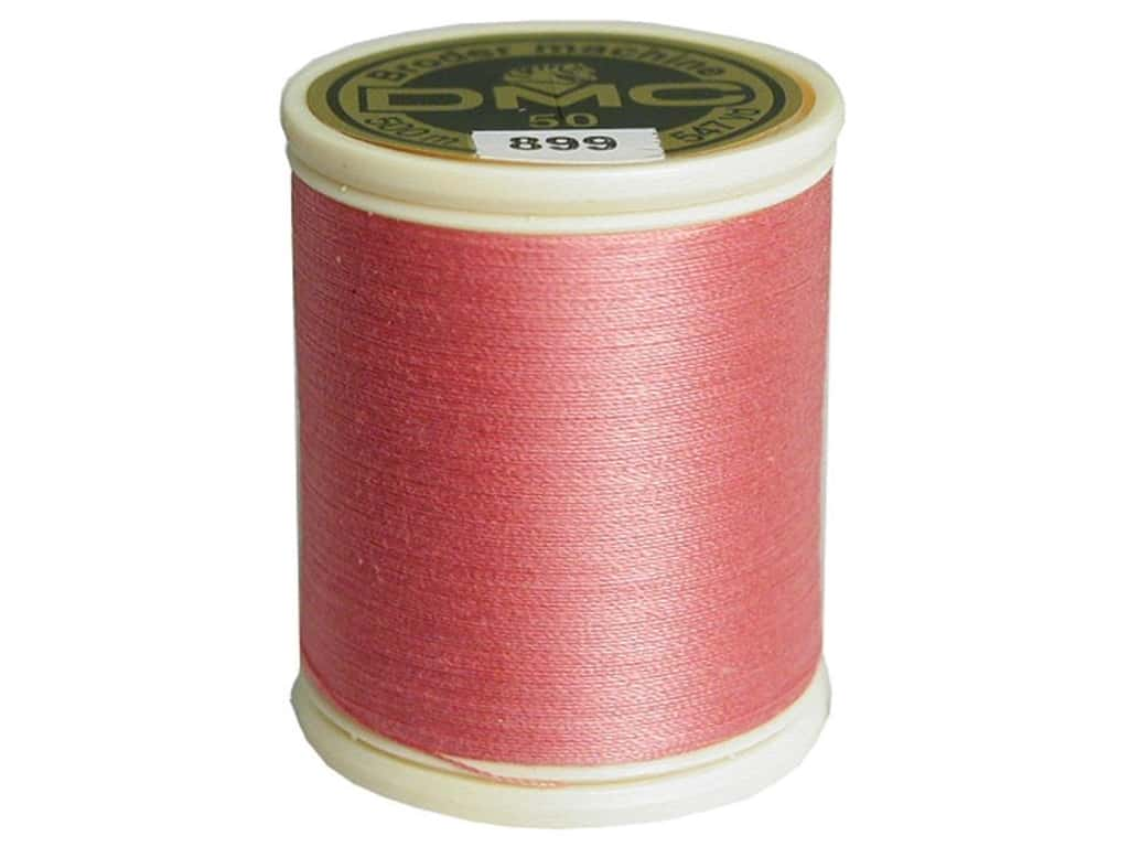 DMC Cotton Machine Embroidery Thread 50 wt. 547 yd. #899 Medium Rose