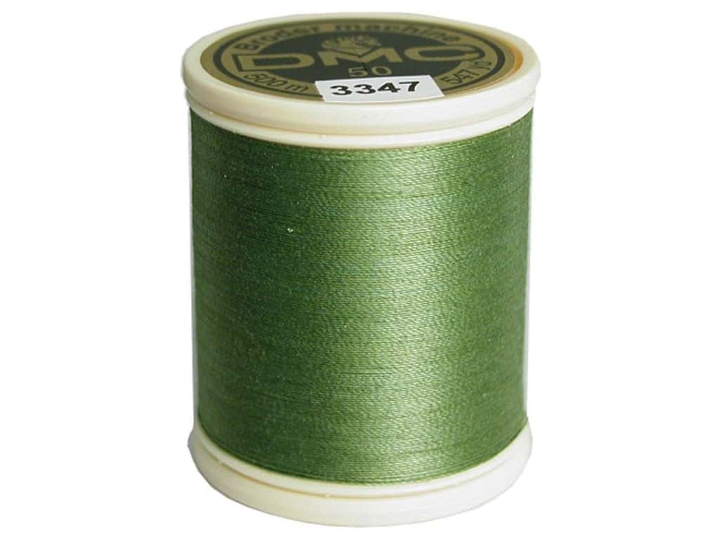 DMC Cotton Machine Embroidery Thread 50 wt. 547 yd. #3347 Medium Yellow Green