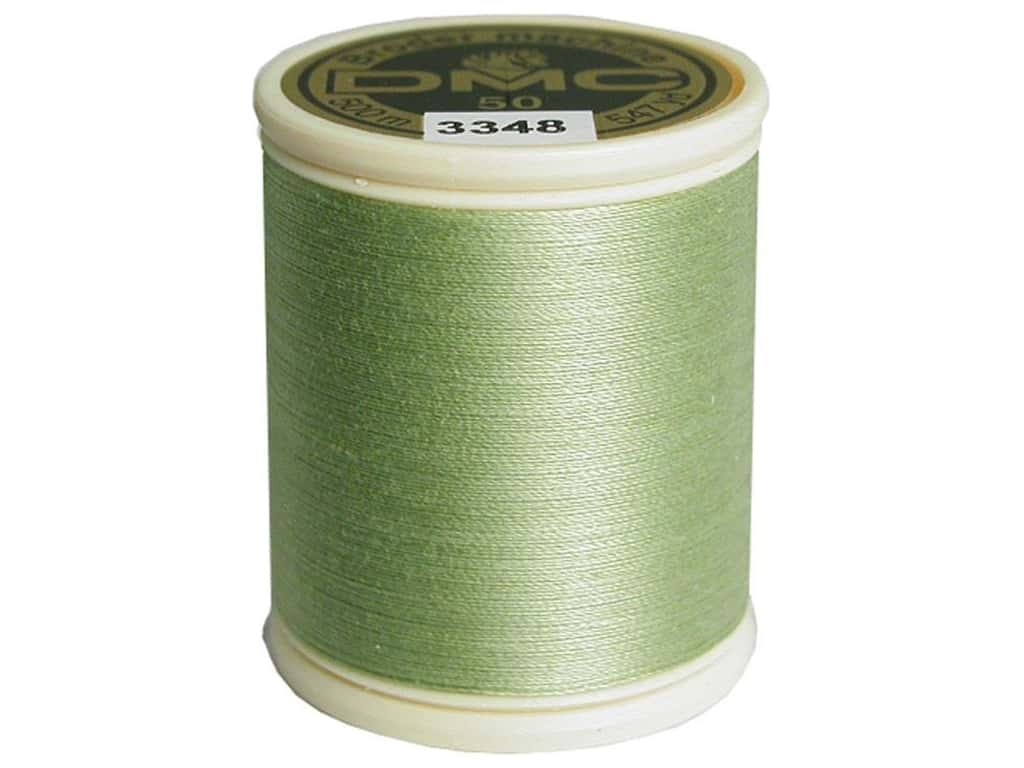 DMC Cotton Machine Embroidery Thread 50 wt. 547 yd. #3348 Light Yellow Green