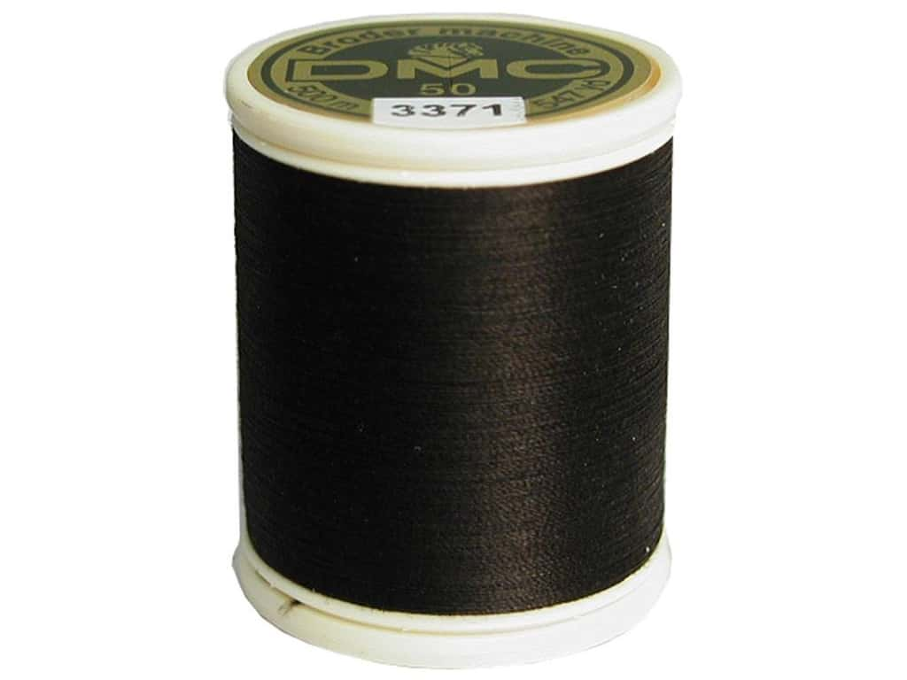 DMC Cotton Machine Embroidery Thread 50 wt. 547 yd. #3371 Black Brown