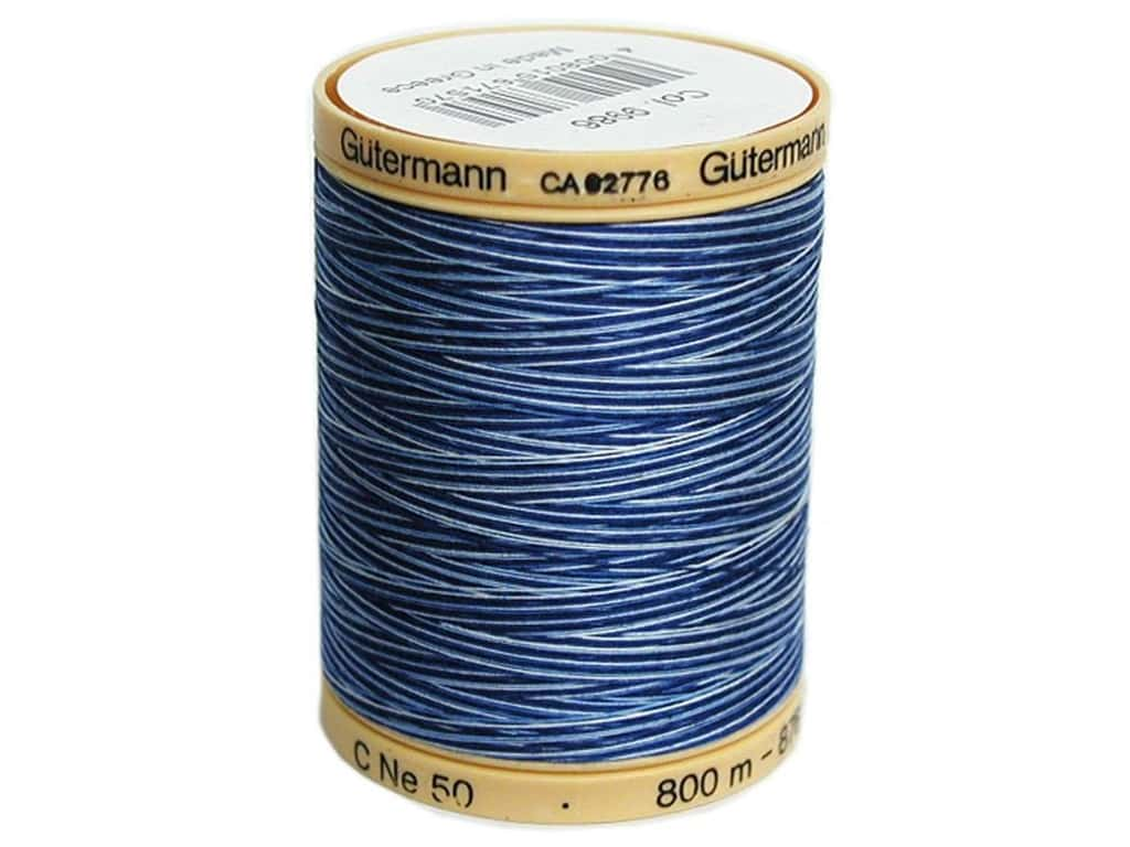 Gutermann 100% Natural Cotton Sewing Thread 875 yd. #9986 Variegated Deep Evening Sky