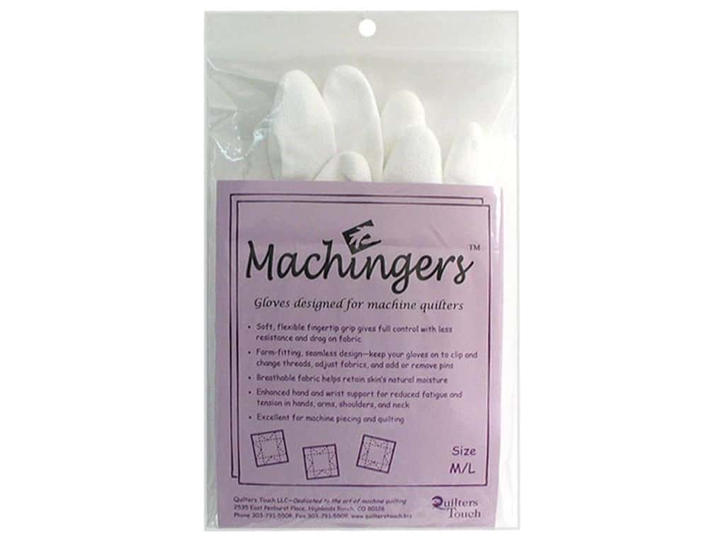Quilters Touch Machingers Gloves - Medium/Large