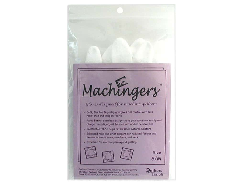 Quilters Touch Machingers Gloves - Small/Medium