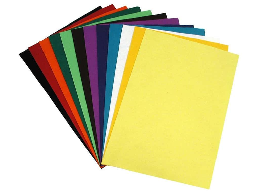 National Nonwovens 20% Wool Felt 12 x 18 in. Contemporary Mix (10 sheets)