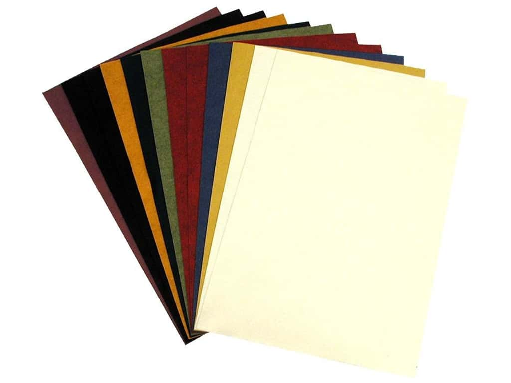 National Nonwovens 20% Wool Felt 12 x 18 in. Most Popular/Country Mix (10 sheets)