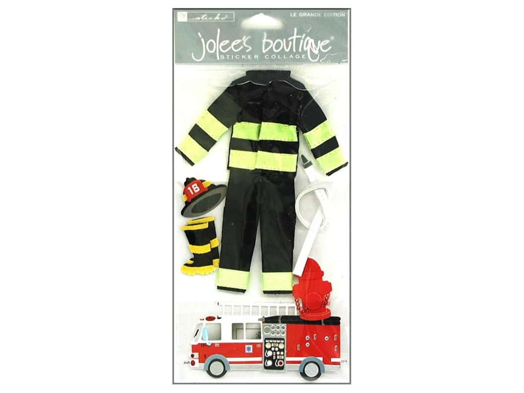 Jolee's Boutique Stickers Large Firefighter