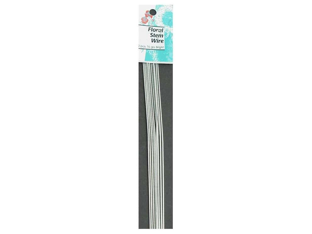 Panacea Cloth Stem Wire 18 in. 20-Gauge 15 pc. White