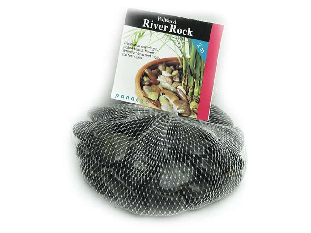 Panacea Decorative River Rock 2 lb. Black