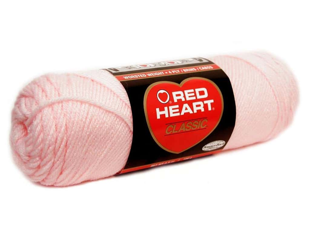 Red Heart Classic Yarn 190 yd. #719 Lily Pink