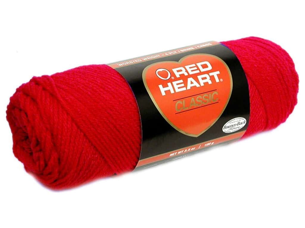 Red Heart Classic Yarn 190 yd. #912 Cherry Red
